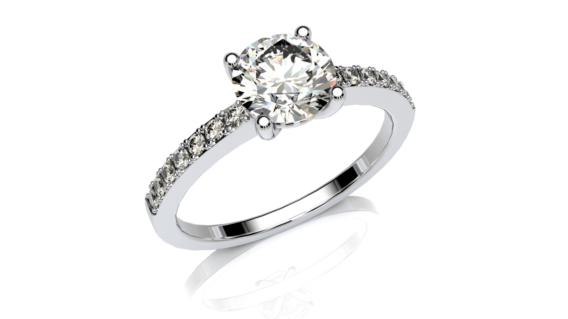 Classic Pave Diamond Ring