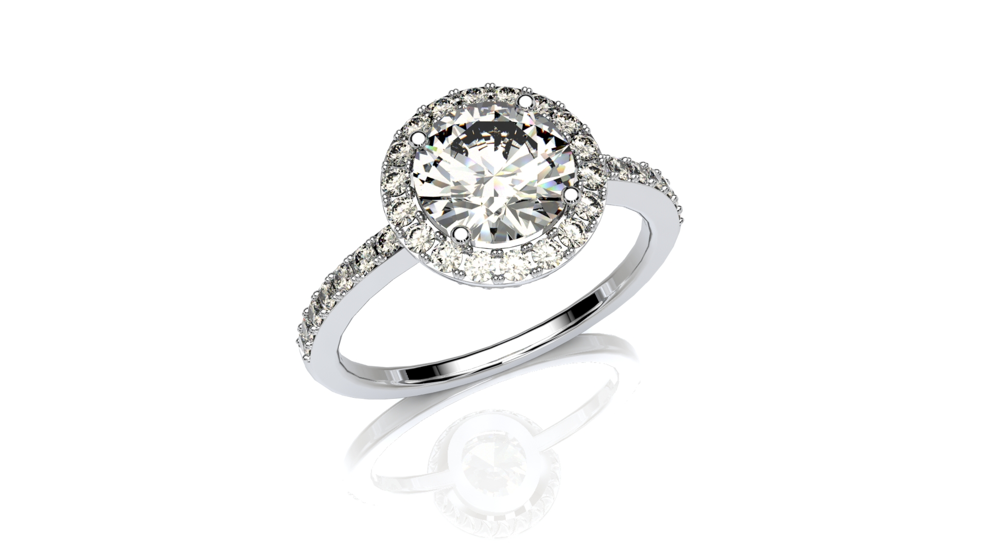 Classic Pave Halo
